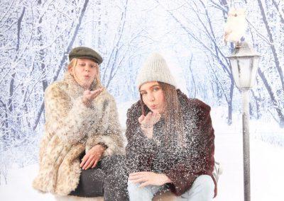 Winter photobooth
